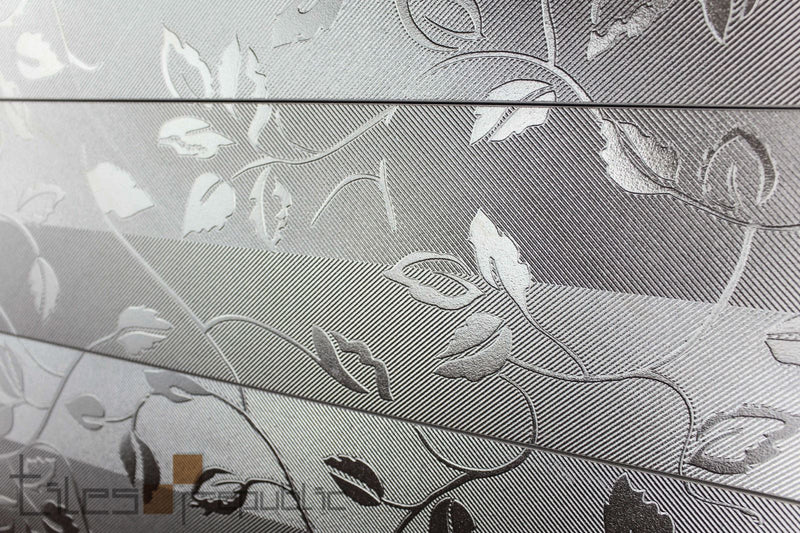Metallic Flower Silver 150x600