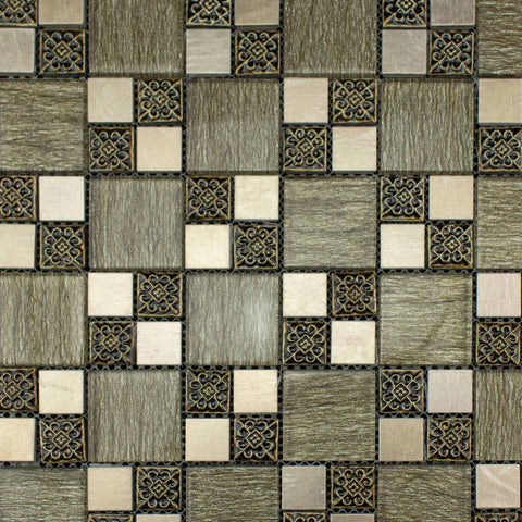 Modern Brown Mosaic 300x300