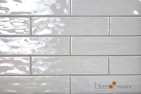 Mano Ash Gloss Handmade Look 75x300 Subway Wall Tiles
