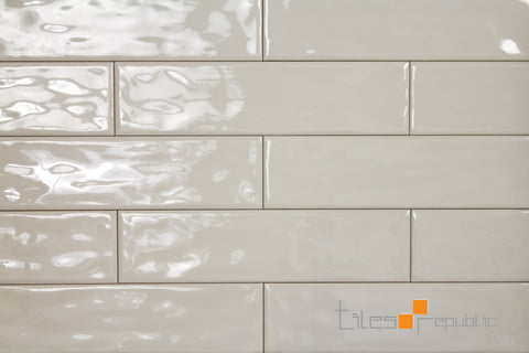 Mano Ivory Gloss Handmade-Look 75x300 Subway Wall