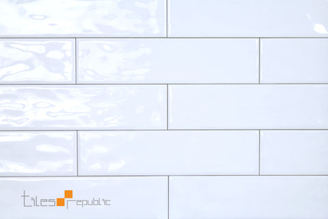 Mano White Gloss Handmade-Look 75x300 Subway Wall