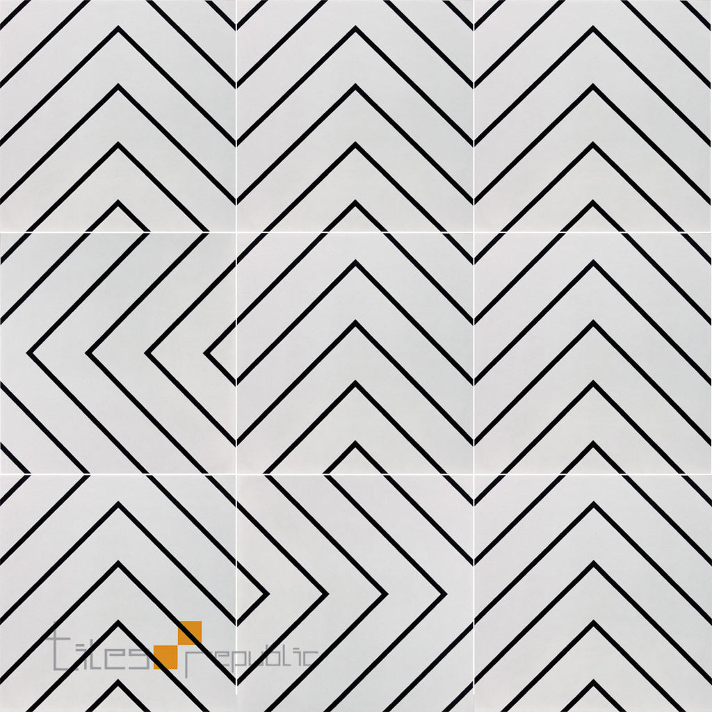 Infinite Maze White Matt 200x200