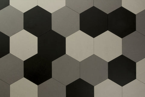 Eco Stone Hexagon Silver Matt 259x299