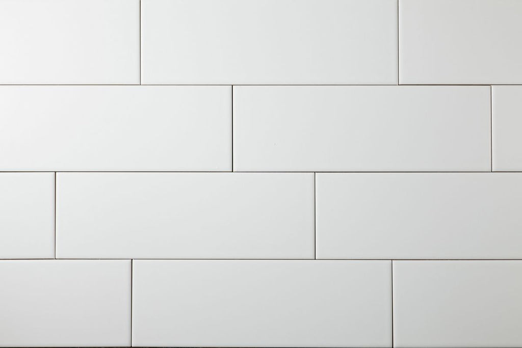 White Matt 100x300 Subway Wall