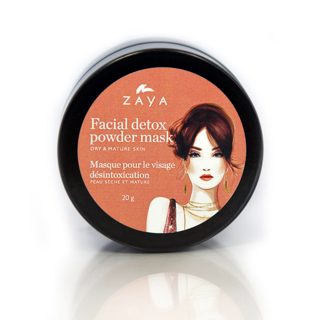 ZAYA Eco skincare| Natural face detox mask for dry and mature skin