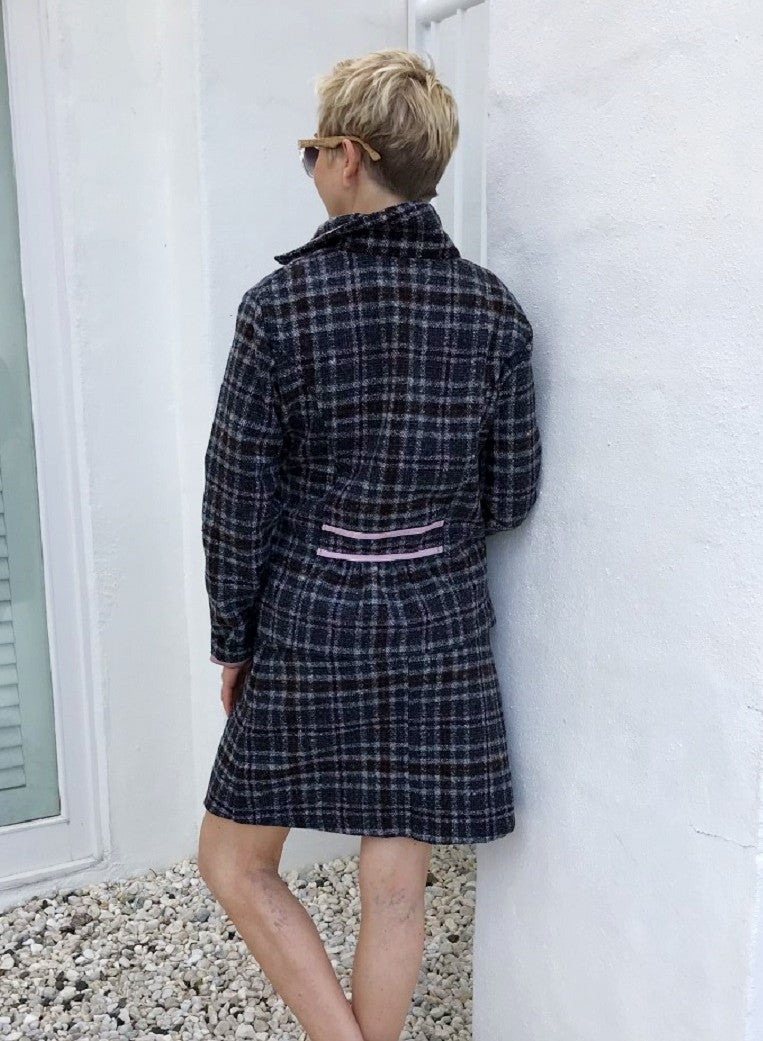 Wool Jacket / CHARCOAL CHECK with MUSK LINING