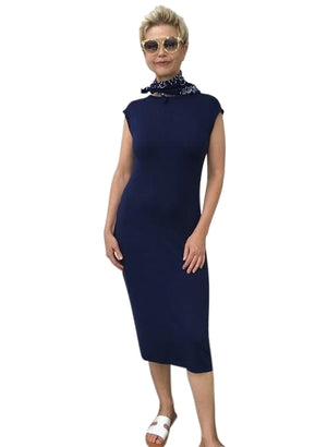 Bamboo Dress  / NAVY