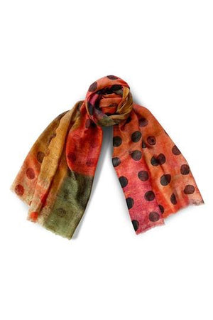 MERINO WOOL AND SILK SCARF