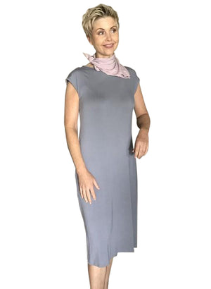 Bamboo Dress  / PEWTER