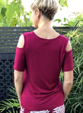 Bamboo  Cut-Out Tee SS / RUBY