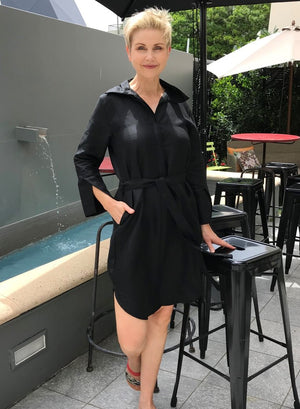 Linen Dress & Jacket / BLACK