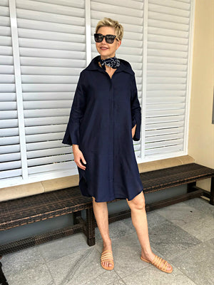 Linen Dress & Jacket / NAVY