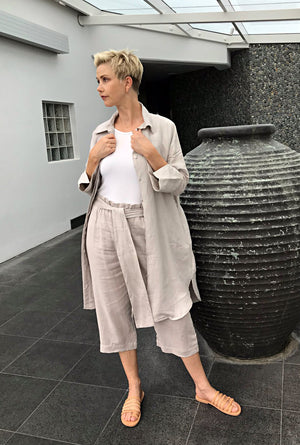 Linen Dress & Jacket / NATURAL
