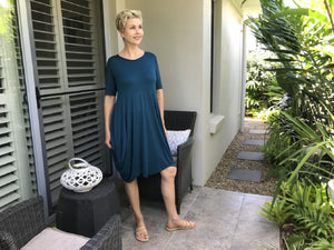 Bamboo F Dress / NAVY