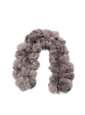 FUR SCARF / BROOKLYN GREY