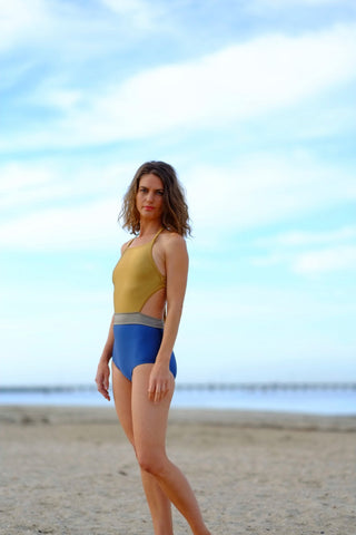 Salty Swimwear / MORDECAI One Piece - Gold & Midnight