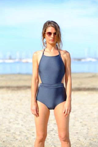 Salty Swimwear / MORDECAI One Piece - Charcoal
