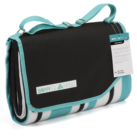 Savvy Glamping Outdoor Tote Blanket w/ Carry Strap