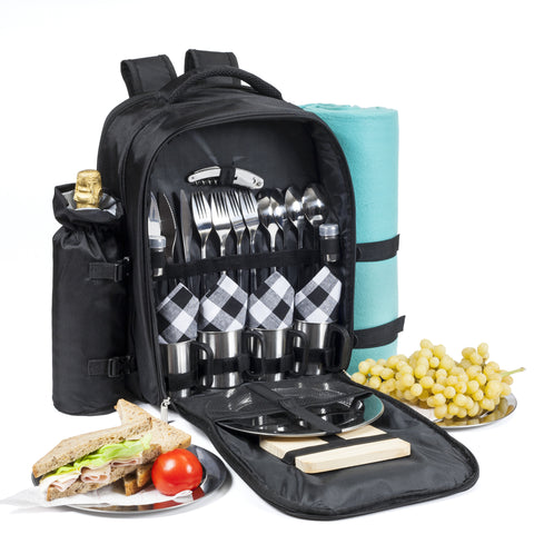 Savvy Glamping Picnic Backpack for 4