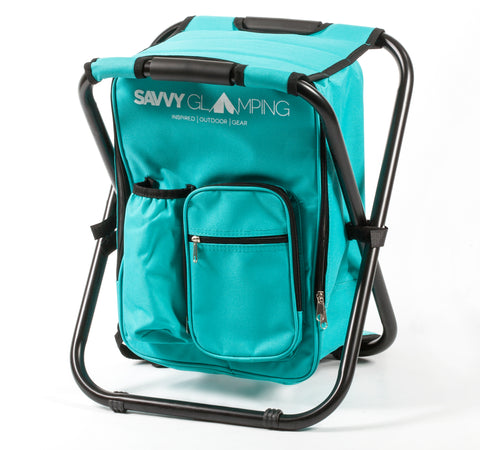 Mini Backpack Folding Chair w/ Cooler