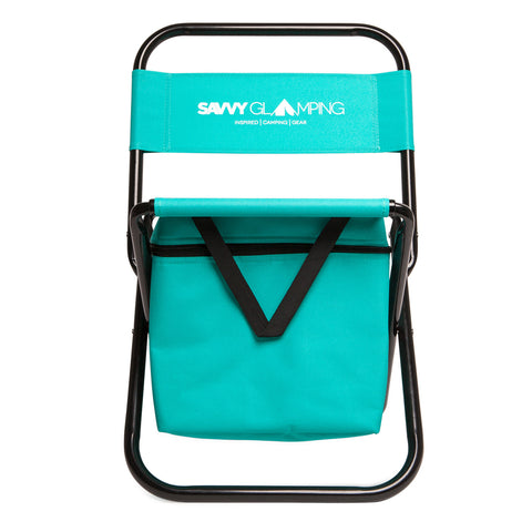 Savvy Glamping Mini Folding Outdoor Chair with Cooler