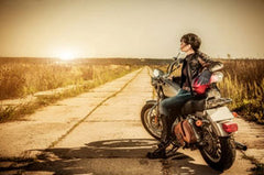 Summer motorcycle riding