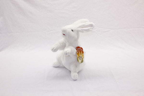 Standing White Rabbit Puppet - Up the Lake Trading Company  - 2