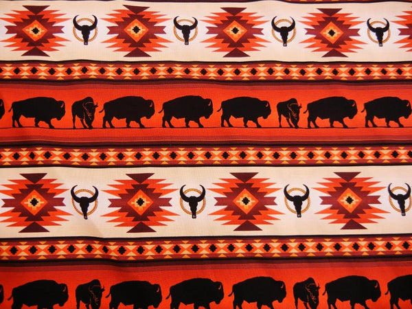 Tuscon Buffalo Print - Terracotta - Up the Lake Trading Company  - 2