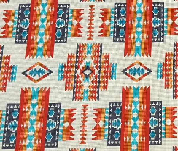 Navajo Ganado Pattern Fabric in Cream