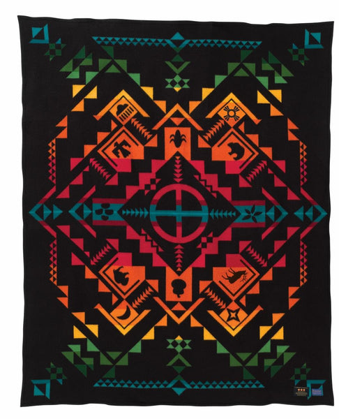 Pendleton Legendary Blanket - Shared Spirits (Black) - Up the Lake Trading Company