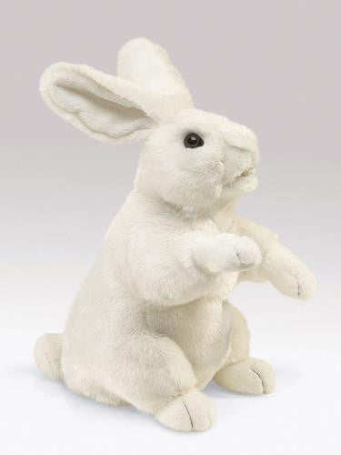 Standing White Rabbit Puppet - Up the Lake Trading Company  - 1