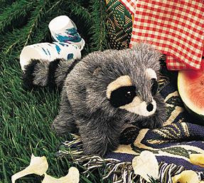 Folkmanis Baby Raccoon Puppet - Up the Lake Trading Company  - 1