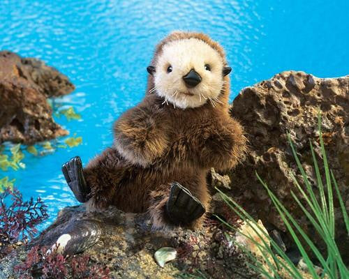 Folkmanis Baby Sea Otter Puppet - Up the Lake Trading Company