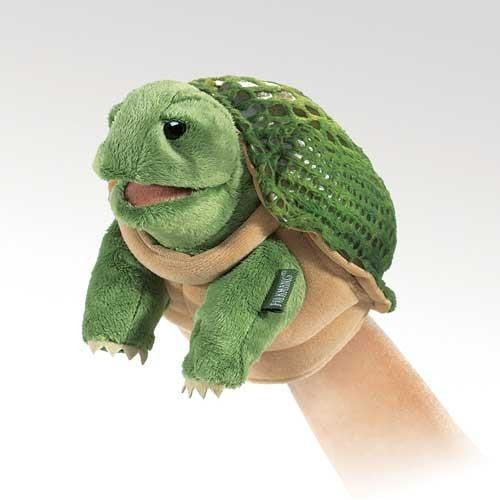 Folkmanis Little Turtle Puppet - Up the Lake Trading Company