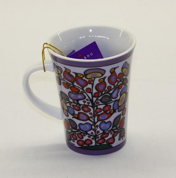Norval Morrisseau Porcelain Coffee Mug - Woodland Floral - Up the Lake Trading Company  - 1