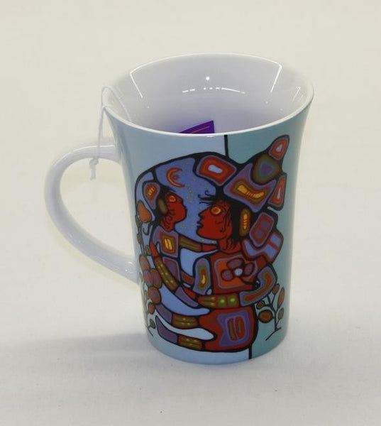 Norval Morrisseau Porcelain Coffee Mug - Mother and Child - Up the Lake Trading Company  - 1