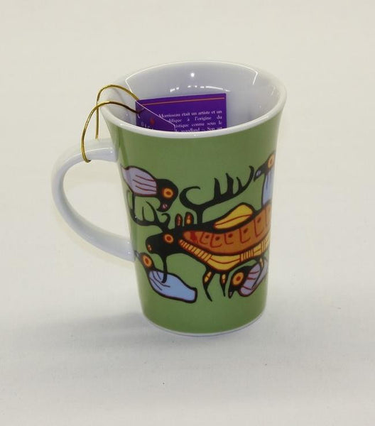Norval Morrisseau Porcelain Coffee Mug - Moose Harmony - Up the Lake Trading Company  - 1