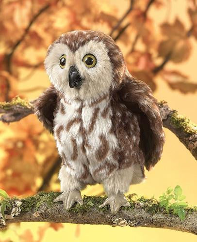 Saw-Whet Owl Puppet - Up the Lake Trading Company