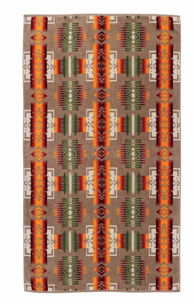 Pendleton Jacquard Towel - Chief Joseph (Khaki) - Up the Lake Trading Company