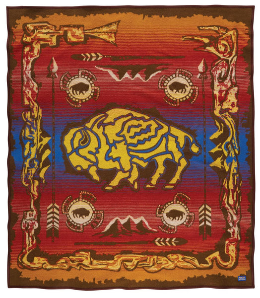 Pendleton Legendary Blanket - Buffalo Creation Story - Up the Lake Trading Company