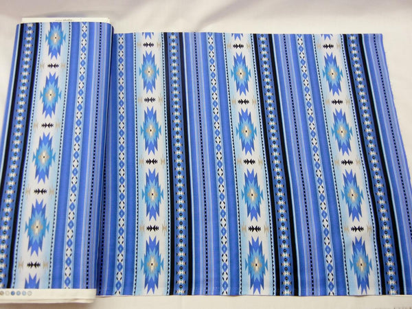 Blue Southwest Print Fabric - Up the Lake Trading Company