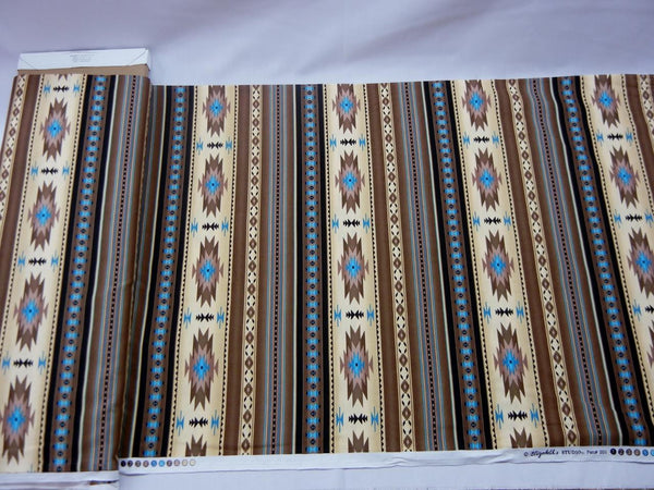 Tan Southwest Print Fabric - Up the Lake Trading Company