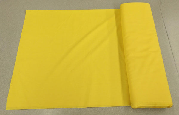 Broadcloth (Polycotton) Fabric - Yellow