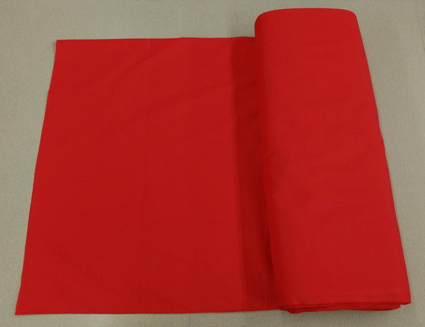 Broadcloth (Polycotton) Fabric - Red