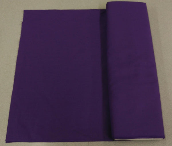 Broadcloth (Polycotton) Fabric - Purple