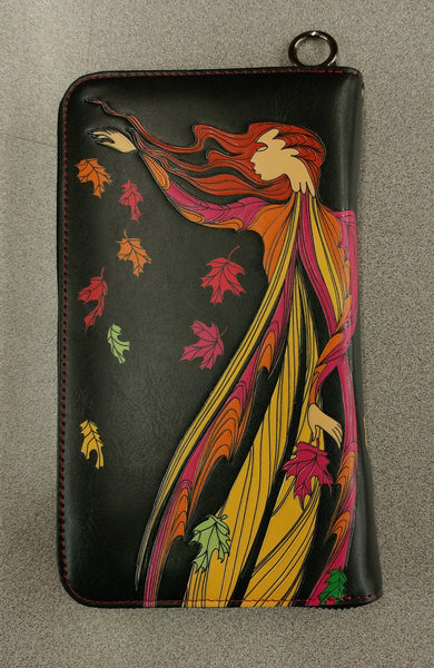 Leaf Dancer by Maxine Noel Travel Wallet