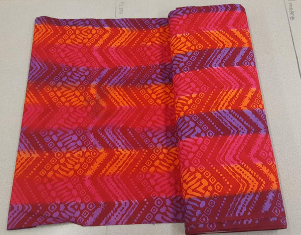 Aztec Zigzag Pattern Fabric in Warm Twilight
