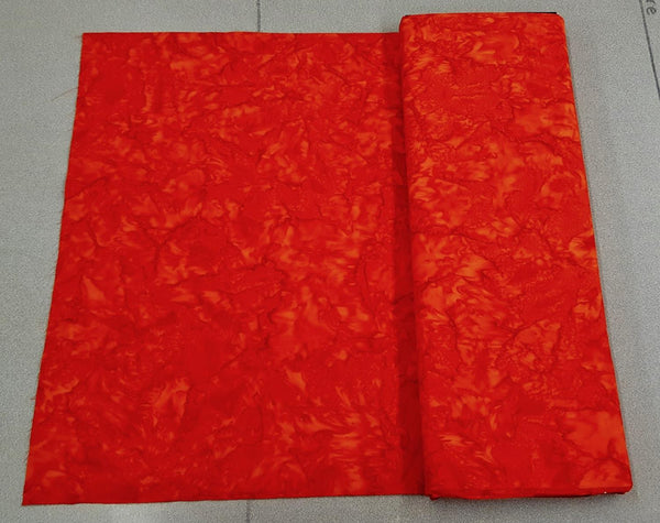 Be Colorful Red / Orange Tie Dye Print Fabric