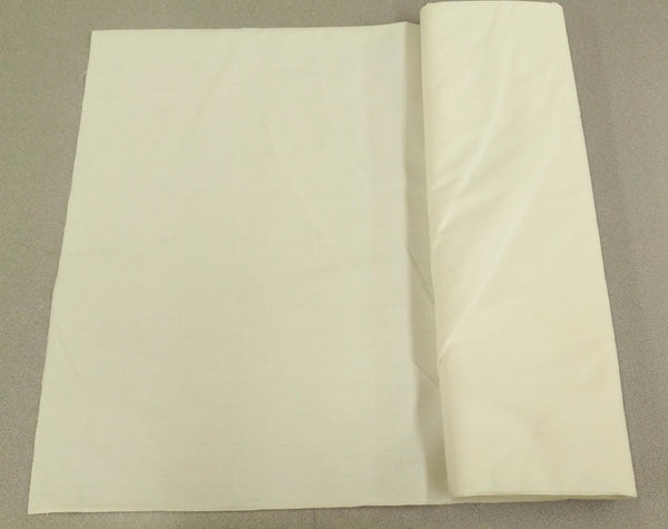 Broadcloth (Polycotton) Fabric - Off White / Ivory