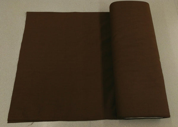Broadcloth (Polycotton) Fabric - Brown